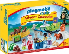 PLAYMOBIL 1-2-3 Adventskalender, Waldweihnacht der Tiere