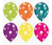 "6 Latex-Ballons ""Colorful Dots"""