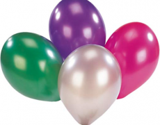 10 Latex-Ballons metallic