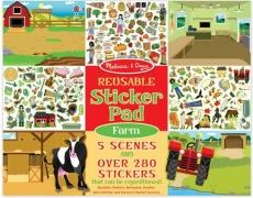 Wiederverwendbarer Stickerblock Bauernhof