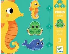 Djeco Primo Puzzle Meerestiere 4-6-9