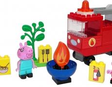 BIG-Bloxx Peppa Pig Feuerwehrauto, 40 Teile