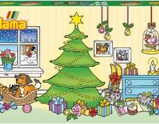 Hama Geschenkpackung Adventskalender, Bügelperlen