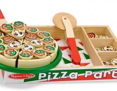 Pizza aus Holz 63-tlg.
